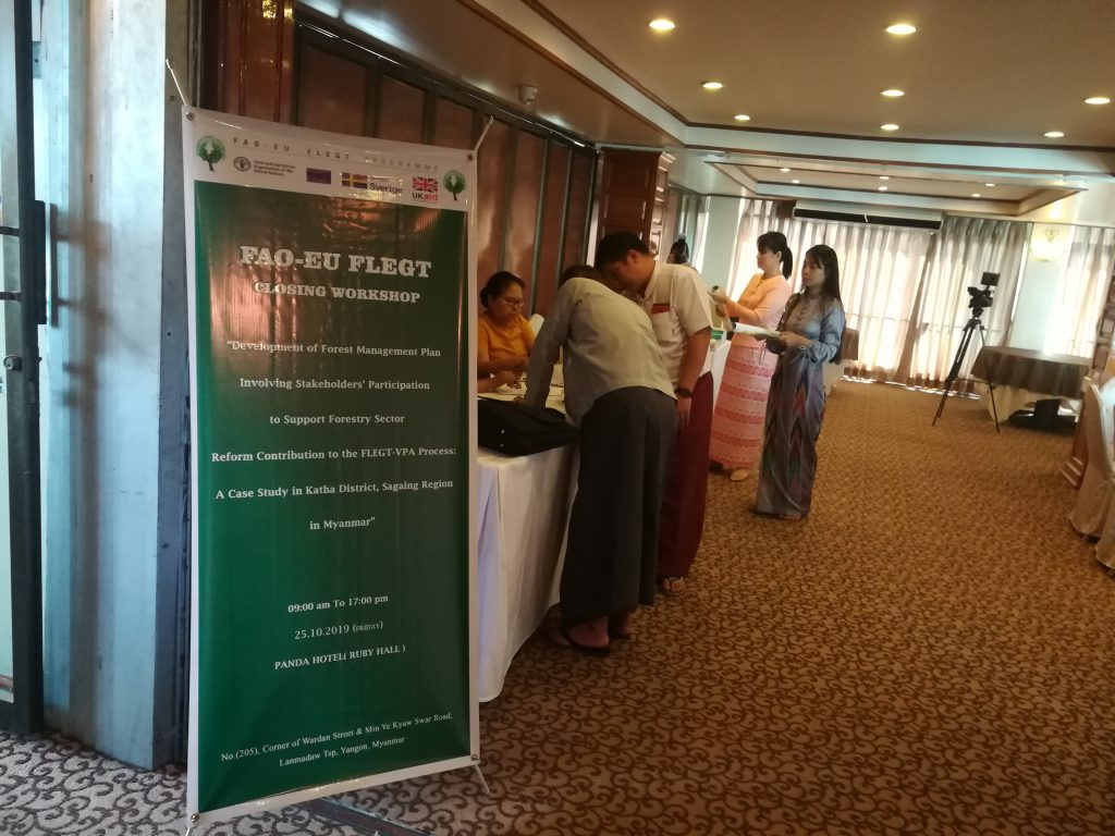 FAO-EU FLEGT Closing workshop at Panda Hotel on 25.10.2019